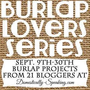 Burlap Lovers Series-Domestically-Speaking!