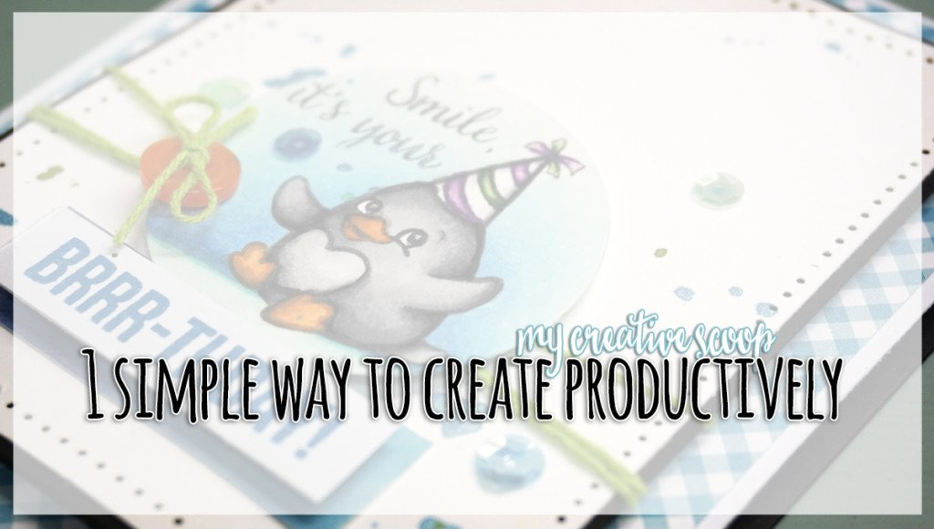 1 Simple Way to Create Productively