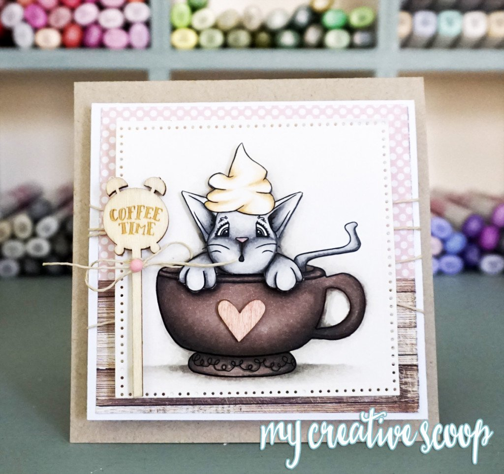 CoffeeTimeCat - Coffee Time & Access to my FREE Digital Stamp and Paper Library