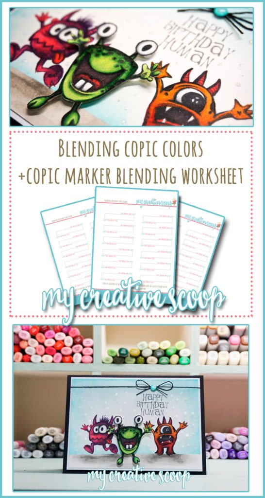 Copic Combos - Blending Copic Markers + Worksheet
