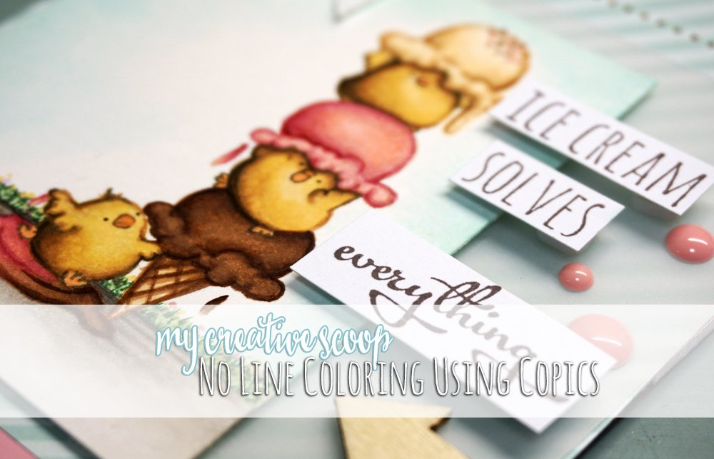 No Line Coloring using Copics - Stamping Bella