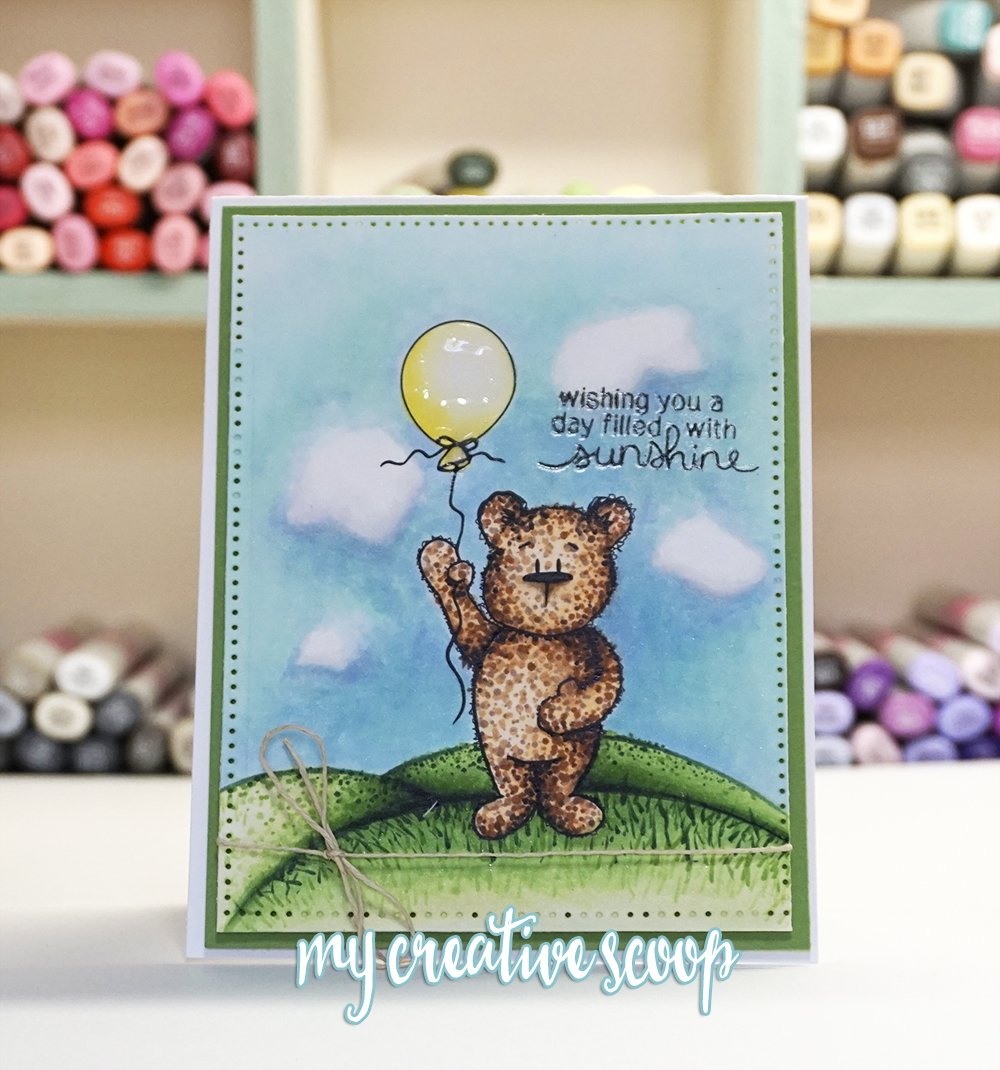 Creating a Fuzzy Texture using Copics + Free Digi Stamp