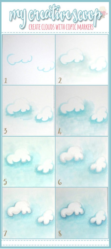 Step by Step How to Create Clouds using Copic Markers