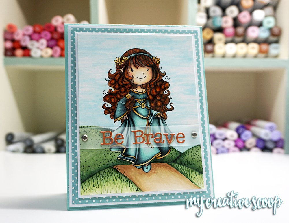 How to Color Curly Hair using Copic Markers