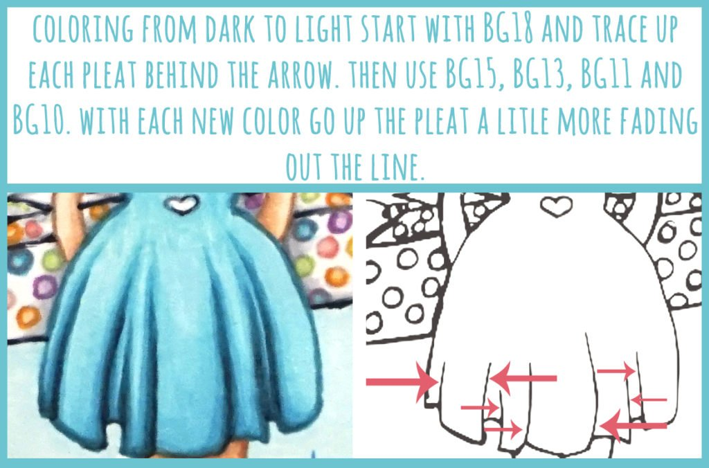 Coloring and Creating Pleats using Copic Markers