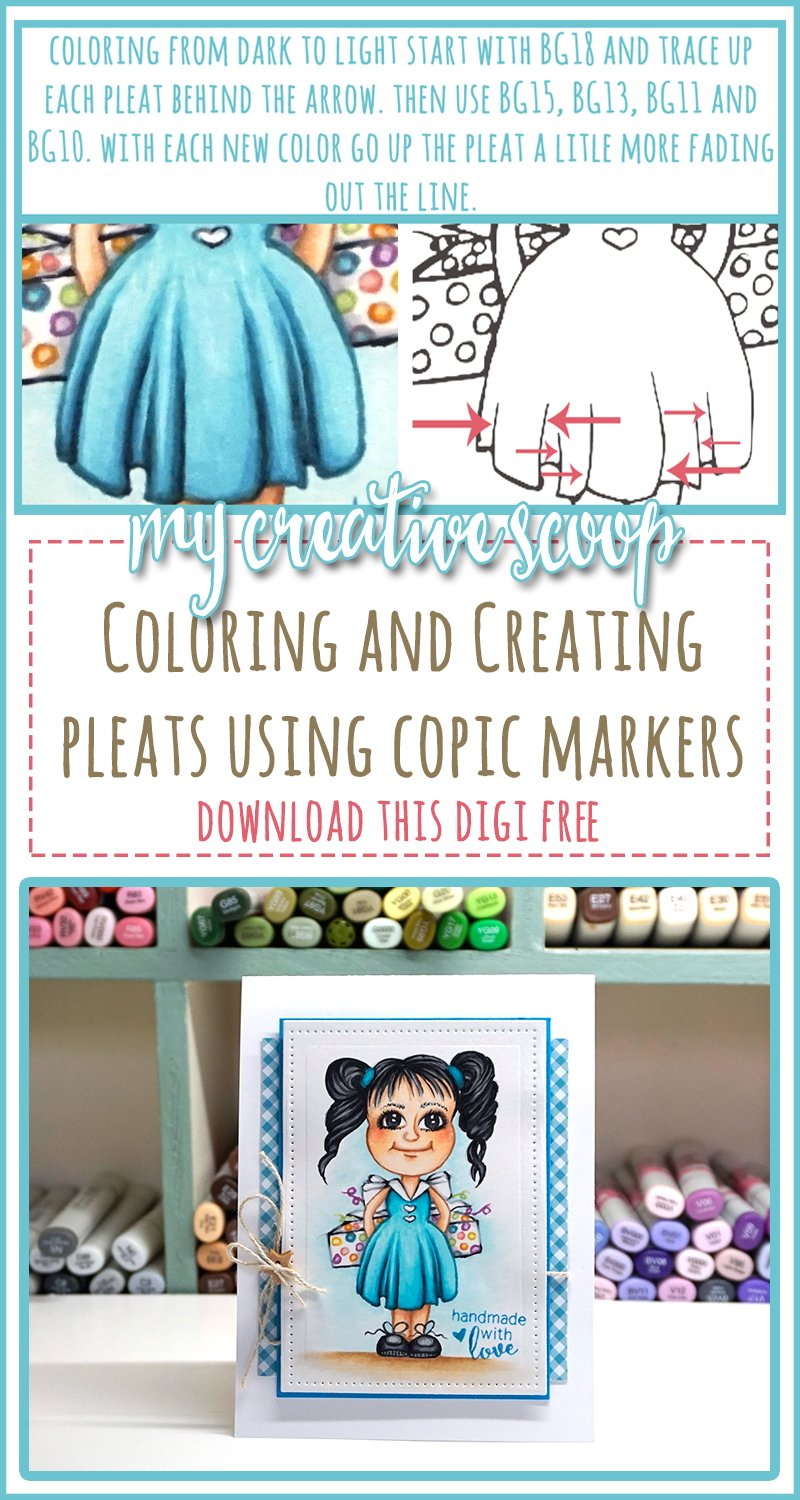 Creating and Coloring Pleats using Copic Markers
