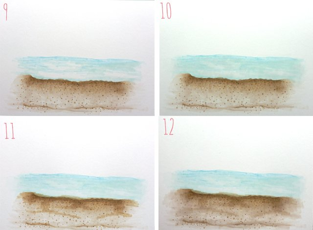 How to Create a Beach Scene using Copic Markers 3