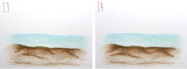 How to Create a Beach Scene using Copic Markers 4