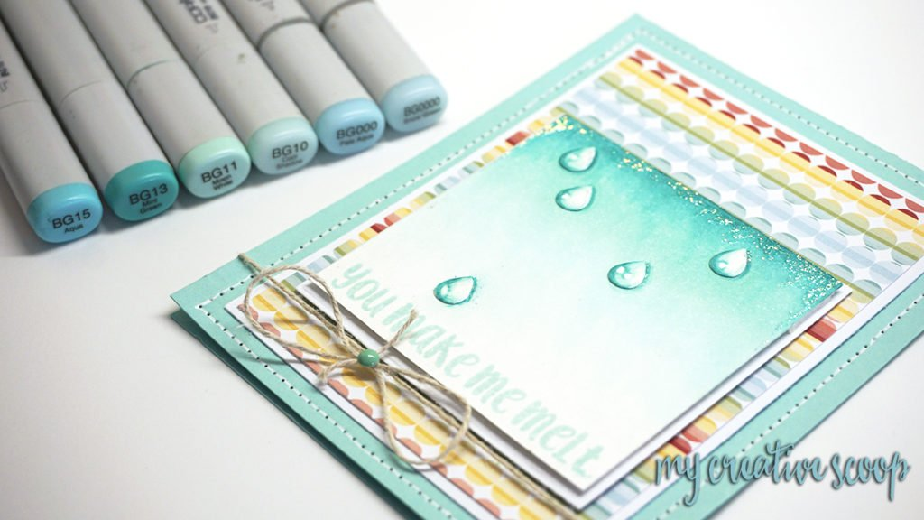 Copic Marker Water DropTutorial - Paper Smooches 2