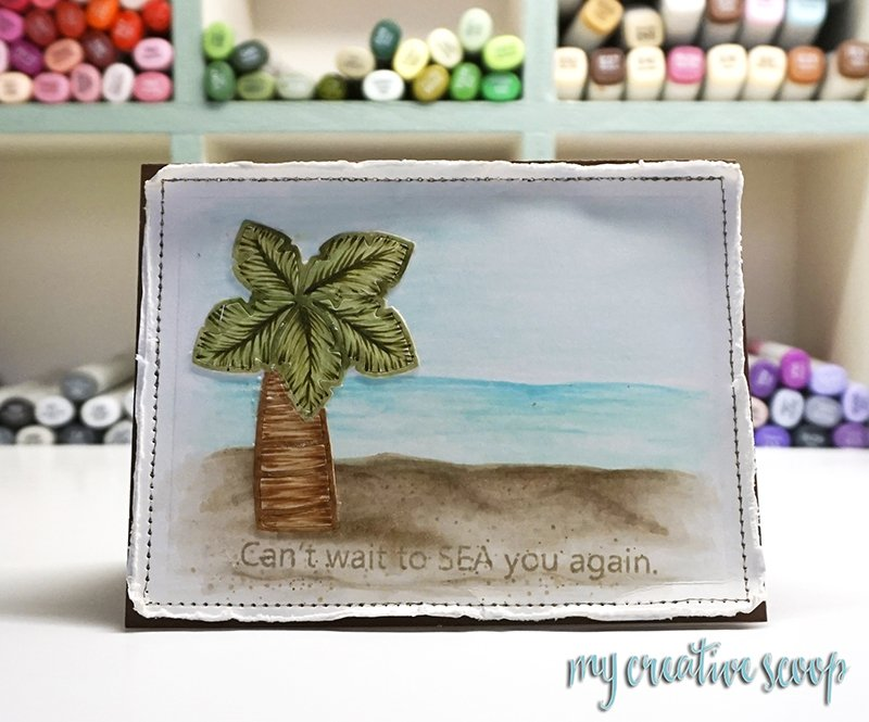 Creating a Beach Scene using Copic Markers - Paper Smooches
