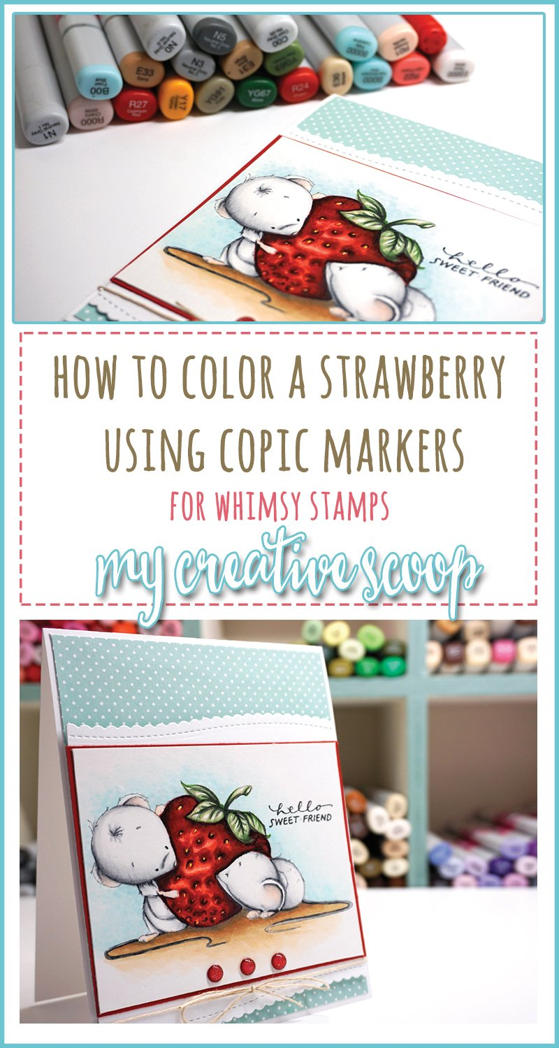 How to color a strawberry with copic markers