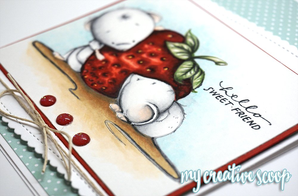 Whimsy Stamps - Coloring a Strawberry with Copic Markers 3