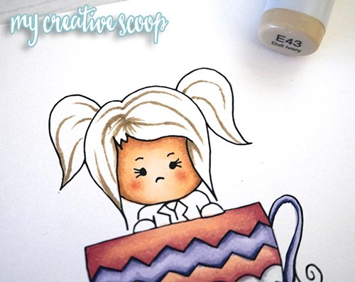 How to Color Hair using Copic Markers + FREE Digi Stamp1