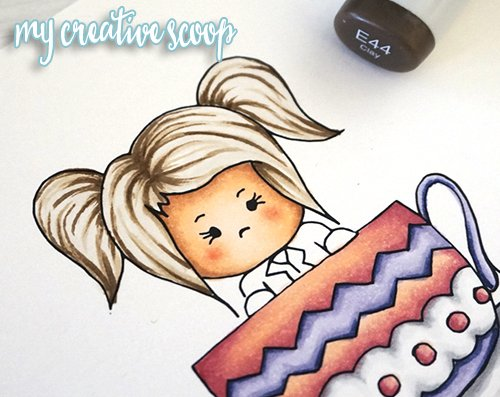 How to Color Hair using Copic Markers + FREE Digi Stamp4