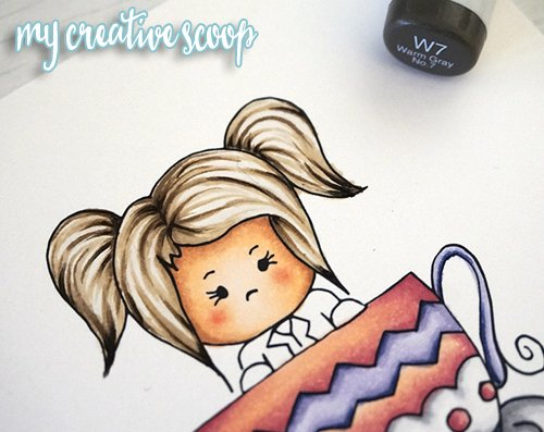 How to Color Hair using Copic Markers + FREE Digi Stamp6