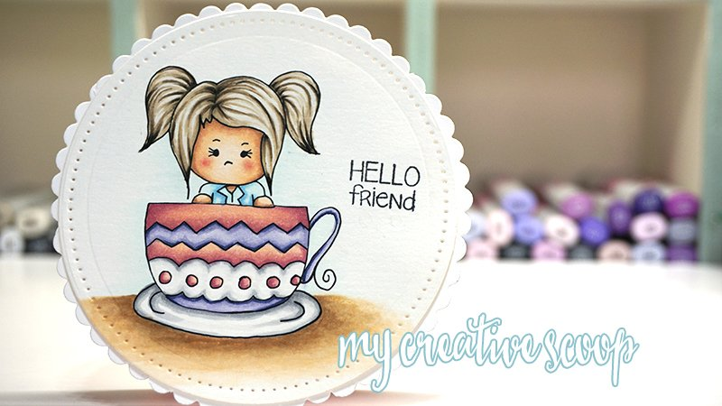 How to Color Hair using Copic Markers + FREE Digi Stamp -Teacup Tommi Digi