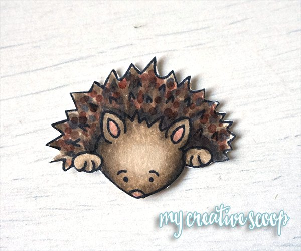 Hedghog - One Trick to Fussy Cutting and using your Copic Markers