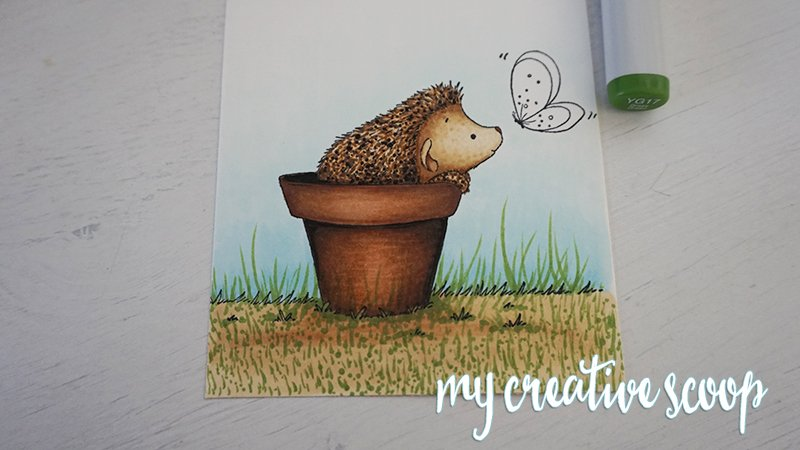 How to Color Grass using Copic Markers -3