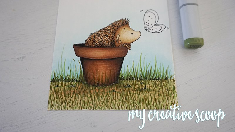 How to Color Grass using Copic Markers -5