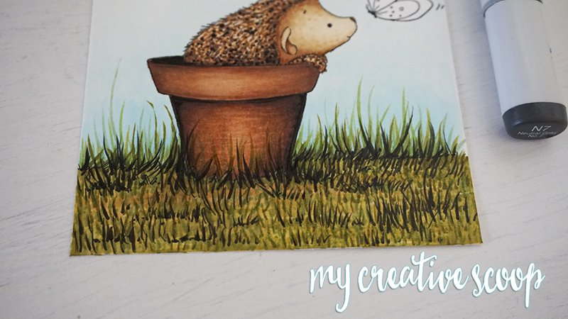 How to Color Grass using Copic Markers -7