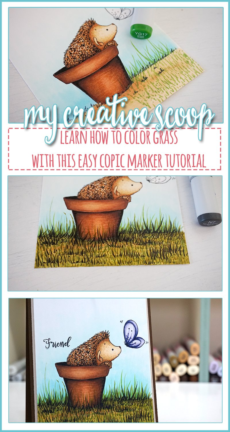 How to Color Grass using Copic Markers- pinterest