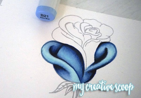 How To Color And Shade A Rose Using Copic Markers Step By Step Tutorial