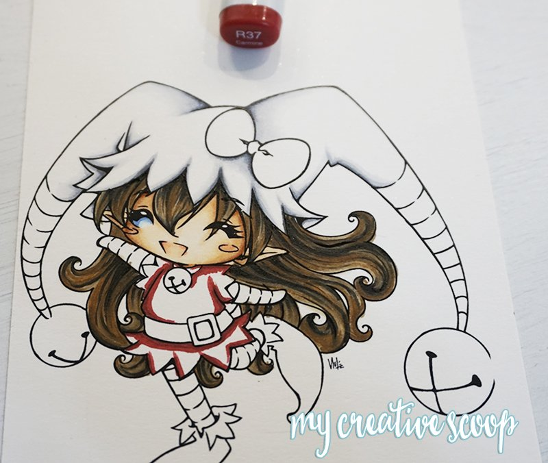 How to Color and Shade Red Copic Markers 2