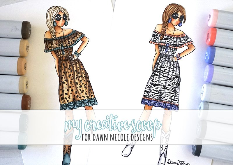 fashion-art-using-copics - 8 Copic Marker Tutorials with Free Printable Coloring Pages