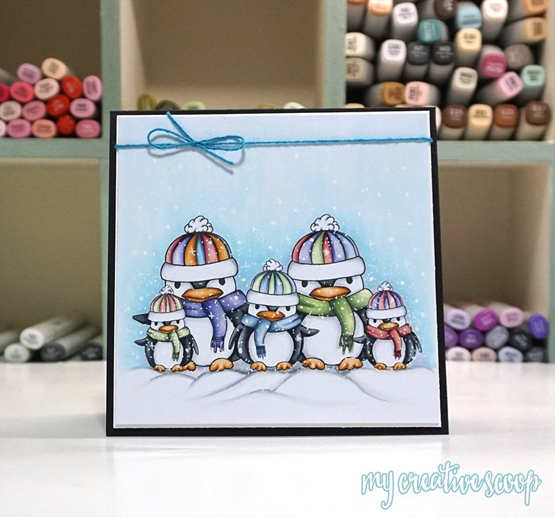 Penguin Family DIgi Stamp Download for all