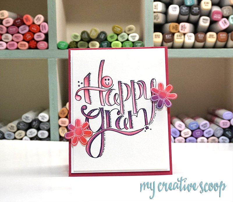 Flicking Technique using Copic Markers - Tammy Tutterow Designs Stamps and Dies