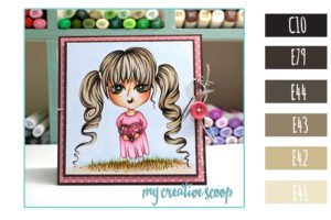 Copic Marker Blonde Hair Color Combo + Free Digi Stamp