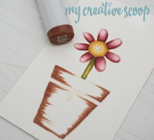 Coloring a terra-cotta pot with Copic Markers