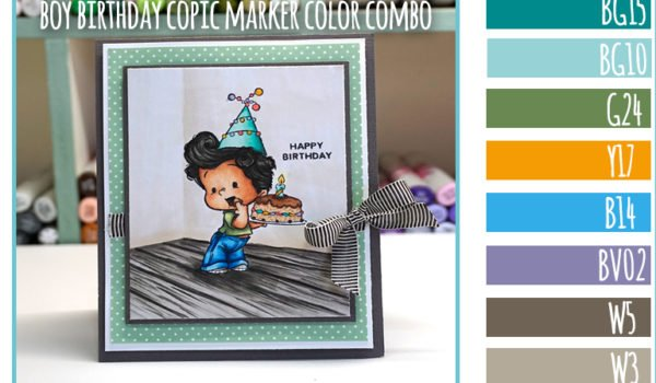 C.C. Designs Sneak Peek – Boy Birthday Copic Marker Color Combo
