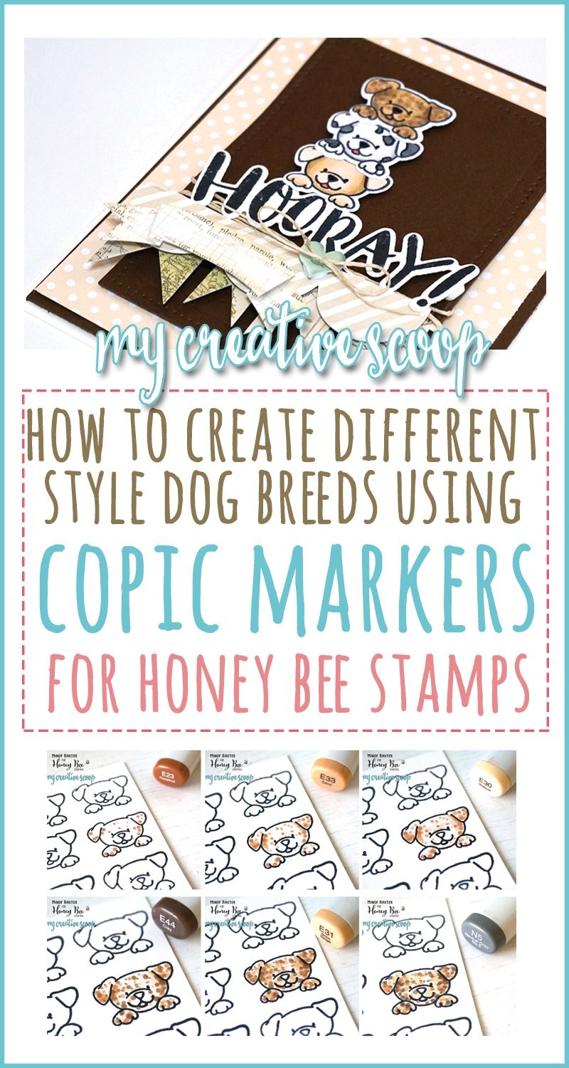 Coloring different Dogs using the same Stamp using Copic Markers