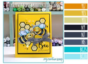 Bee Yourself Copic Marker Color Combo using Honey Bee Stamps