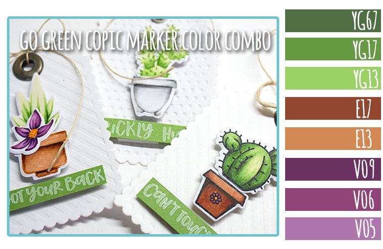 Go Green Copic Marker Color Combo + Honey Bee Stamps Sneak Peek