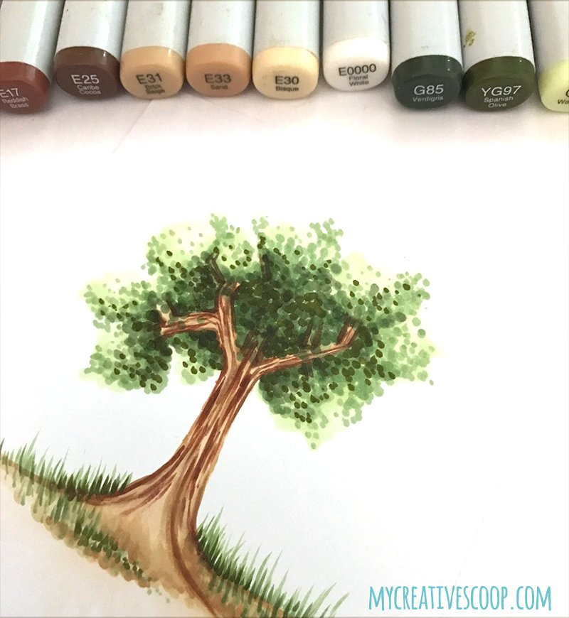 Creating Backgrounds with Markers - Online Coloring Class