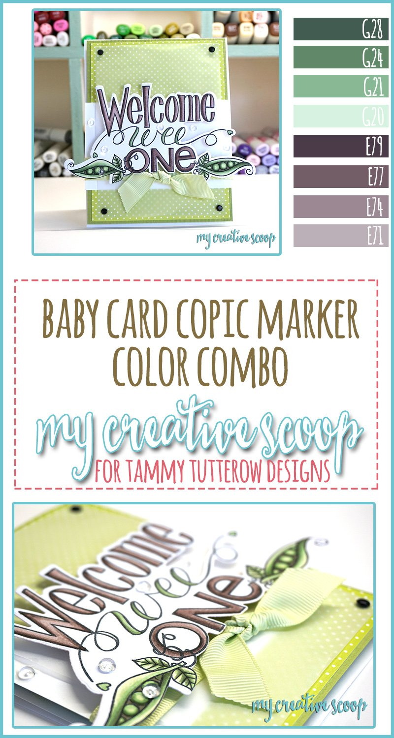 Welcome Baby Copic Marker Color Combo My Creative Scoop