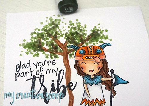 How to Create a Tree Freehand using Copic Markers
