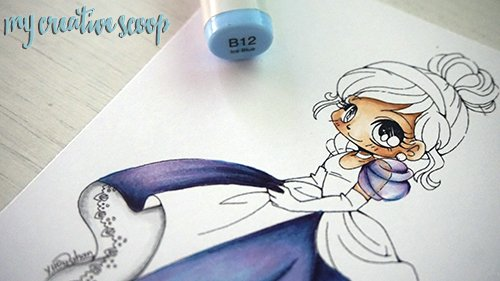 iridescent Coloring Technique using Copic Markers 14