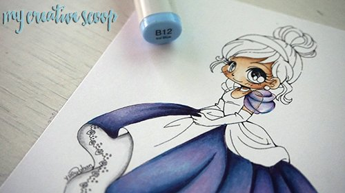 iridescent Coloring Technique using Copic Markers 16