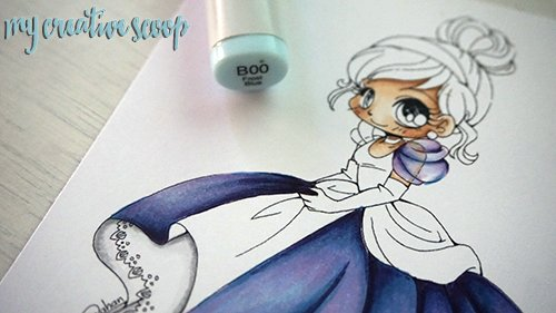 iridescent Coloring Technique using Copic Markers 18