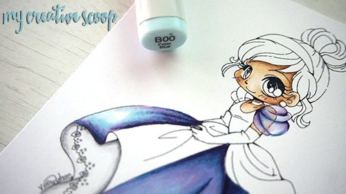 iridescent Coloring Technique using Copic Markers
