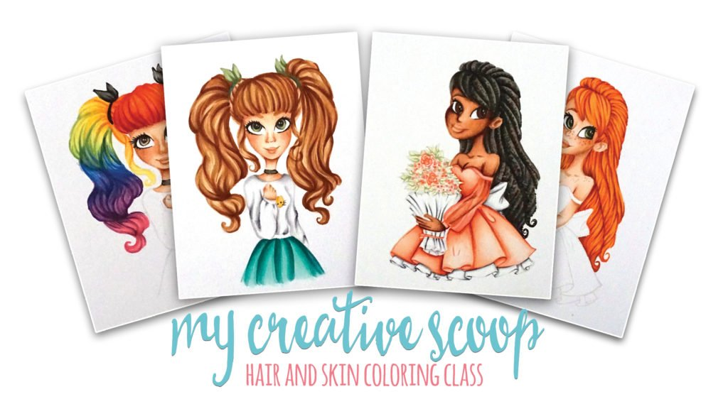 Online Copic Marker Skin and Hair Class