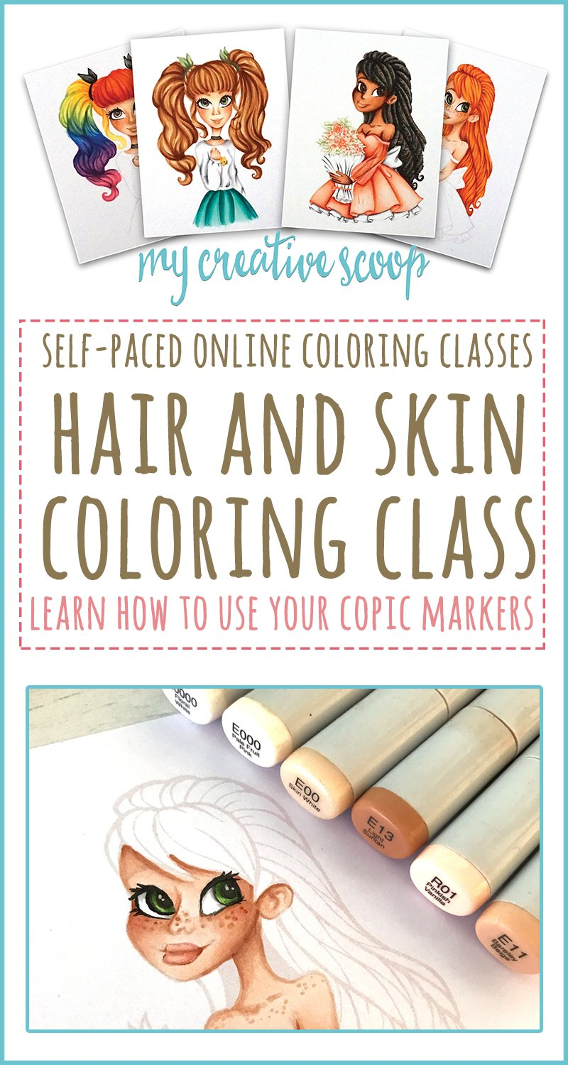 Hair and Skin Coloring Class - Using Copic Markers - My