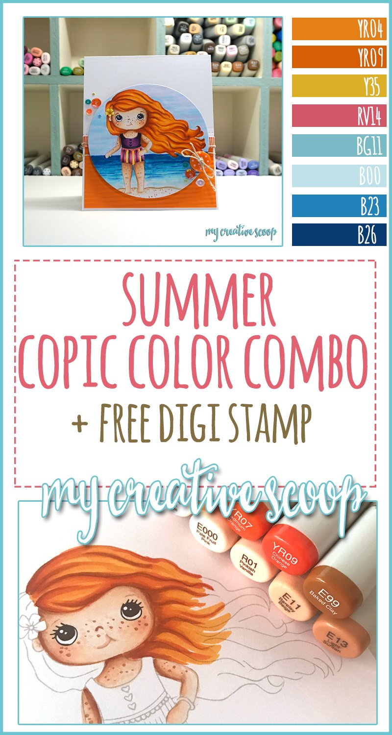 Free Summer Digi and Summer Copic Color Combo