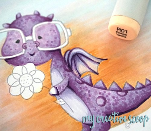 How to Color a Dragon using Copic Markers