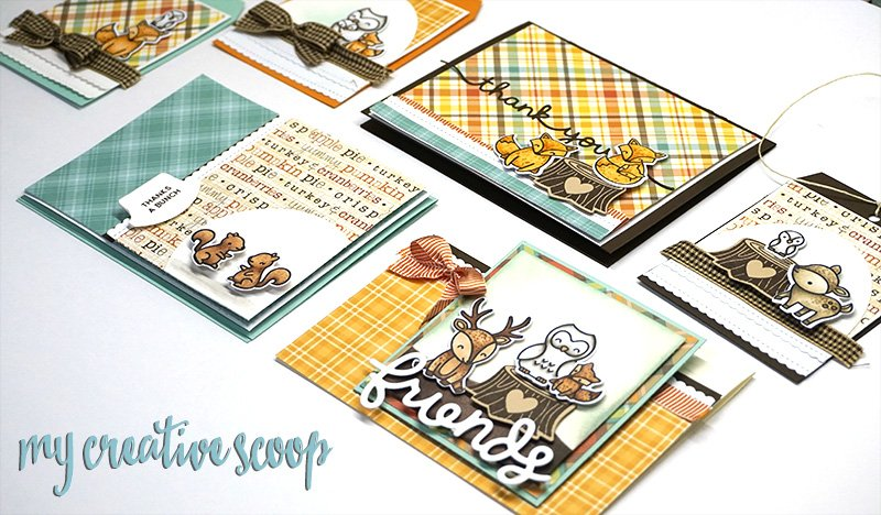 Hello Fall Lawn Fawn Card and Tag Class