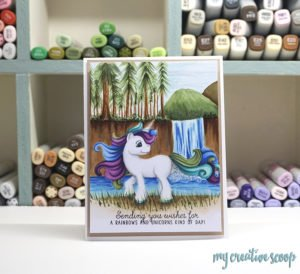 FREE Unicorn Digi Stamp