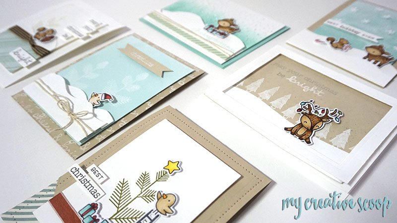 Lawn Fawn Christmas Card Class in Southern California